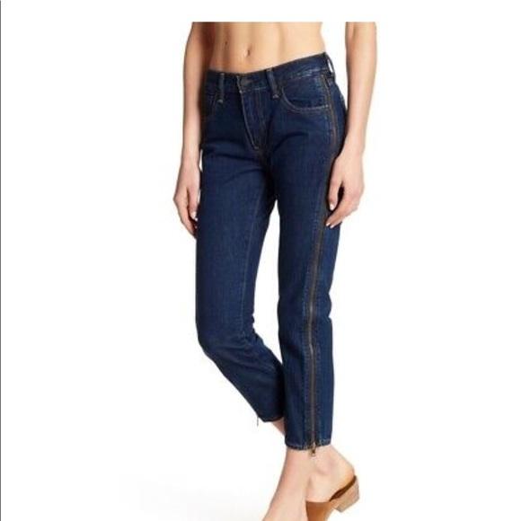 Levi's Denim - Levi's 505 C cropped zipper skinny bondage blue